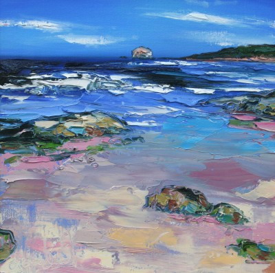 Modern Artist Judith BRIDGLAND - White Caps on the Waves, Bass Rock