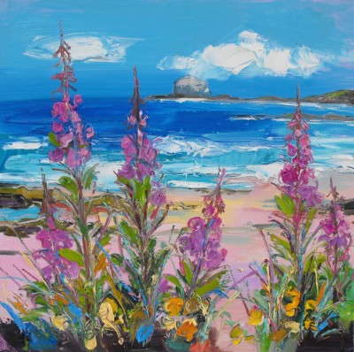 Modern Artist Judith BRIDGLAND - Rosebay Willowherb at North Berwick