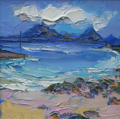 Modern Artist Judith BRIDGLAND - Cuillins from the Harbour, Elgol