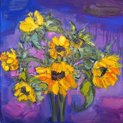 Modern Artist Judith BRIDGLAND - Beautiful Sunflowers