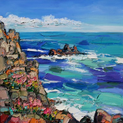 Judith BRIDGLAND - Churning Sea, Land's End