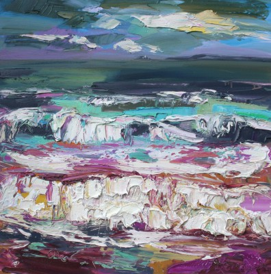 Judith BRIDGLAND - Dark Clouds, Porthminster Beach, St Ives