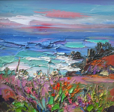 Modern Artist Judith BRIDGLAND - Calm Evening Sky, Land's End