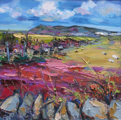 Modern Artist Judith BRIDGLAND - Across the Fields