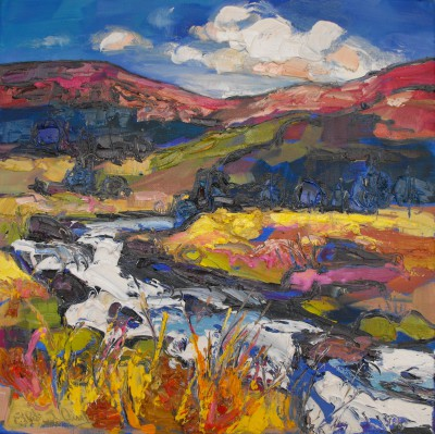 Judith BRIDGLAND - Rushing Autumn Burn, Argyll