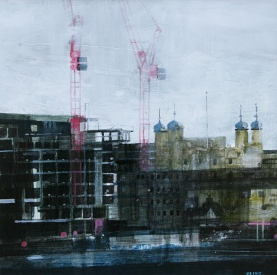 Julian SUTHERLAND-BEATSON - The Tower and Cranes