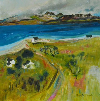 Ardnamurchan Cottages painting by artist Katherine SWINFEN EADY
