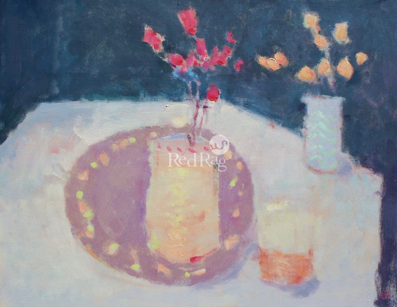 The Yellow Vase By Modern Contemporary Artist Lorraine Brown