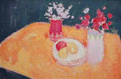 Lorraine BROWN, contemporary artist - The Orange Tablecloth