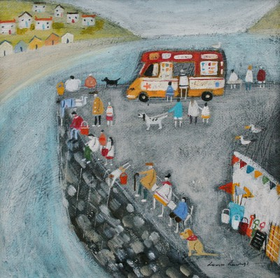 Louise RAWLINGS - Crabbing off the Quayside