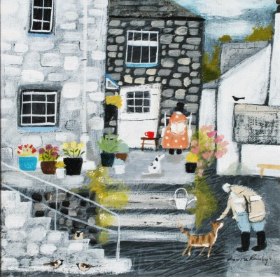 Modern Artist Louise RAWLINGS - Down a Quiet Side Street