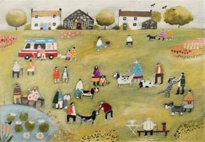 Modern Artist Louise RAWLINGS - The Annual Village Dog Show