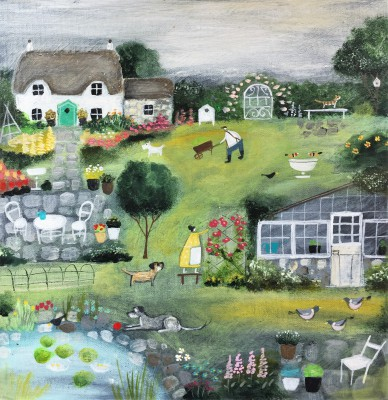 Modern Artist Louise RAWLINGS - Midsummer in the Garden