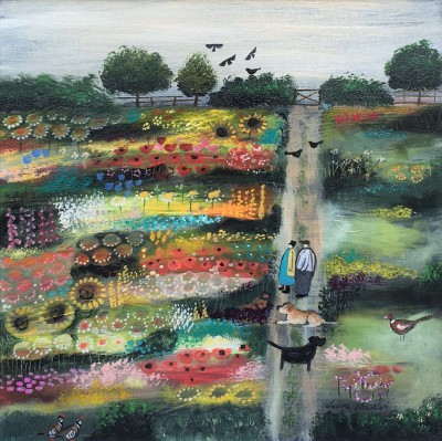 Modern Artist Louise RAWLINGS - Take a Moment to Smell the Flowers