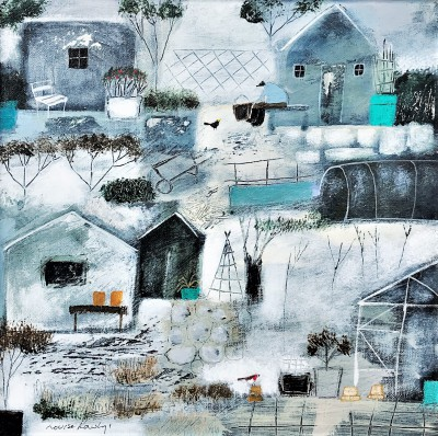 Modern Artist Louise RAWLINGS - January at the Allotments