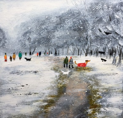 Modern Artist Louise RAWLINGS - A January Flurry