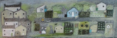 Modern Artist Louise RAWLINGS - Treasured Plots