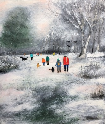 Modern Artist Louise RAWLINGS - Wintery Late Afternoon