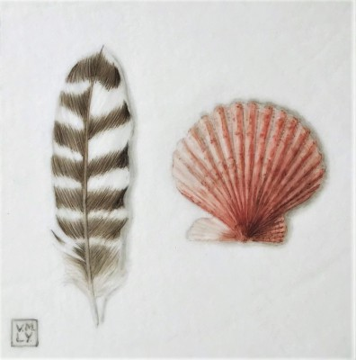Louise YOUNG - Feather and Shell (Red)