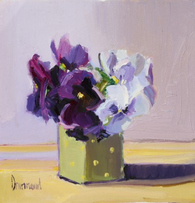 Modern Artist Marion DRUMMOND - Pansies for Thought