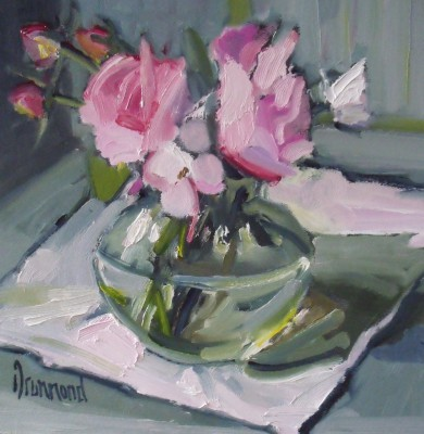 Rosy Posy painting by artist Marion DRUMMOND