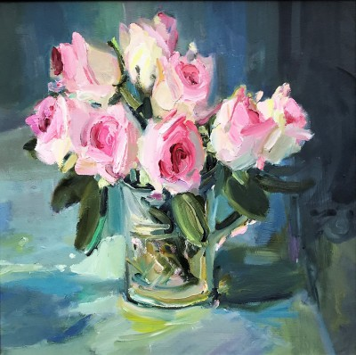 Modern Artist Marion DRUMMOND - Roses and Crystal