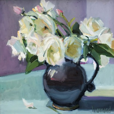 Modern Artist Marion DRUMMOND - Roses from around my Door