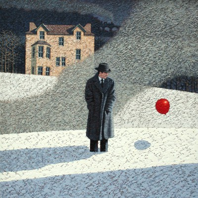 Modern Artist Mark EDWARDS - Two Passing Trains