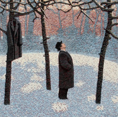 Modern Artist Mark EDWARDS - Watching The Crows