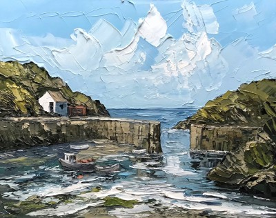 'Porthgain Harbour' painting