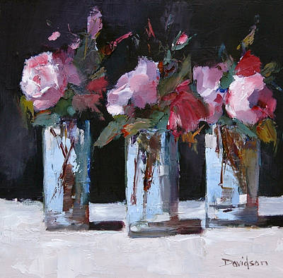 Modern Artist Mary DAVIDSON - Pink Roses