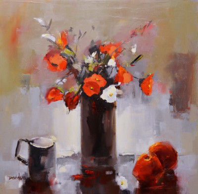 Modern Artist Mary DAVIDSON - Still Life with Red & White