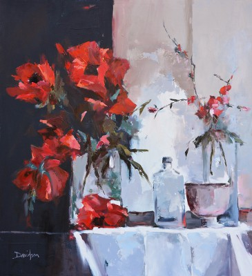 Modern Artist Mary DAVIDSON - Still Life with Poppies