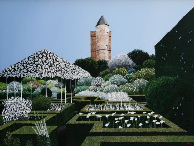 Modern Artist Michael KIDD - The White Garden