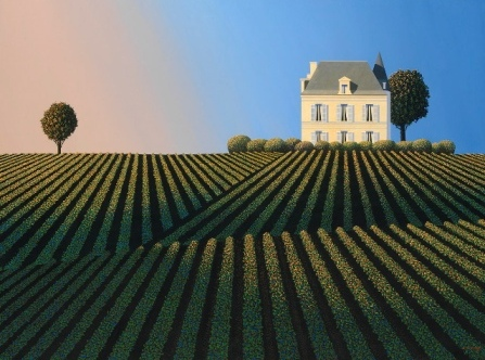 Modern Artist Michael KIDD - First Growth Last Light (Chateau Latour)