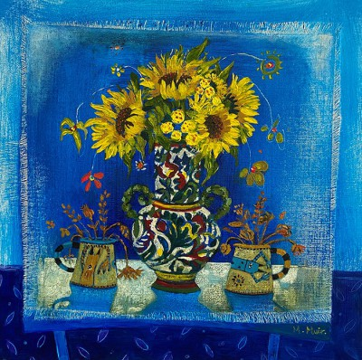 Sunny Flowers painting by artist Morag MUIR