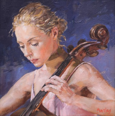 Modern Artist Muriel BARCLAY - Cello Note