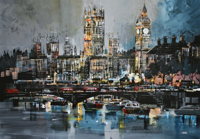 Nagib KARSAN - River Thames and Houses of Parliament