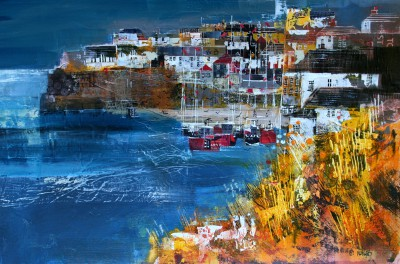 Nagib KARSAN - View from above Harbour, Port Isaac