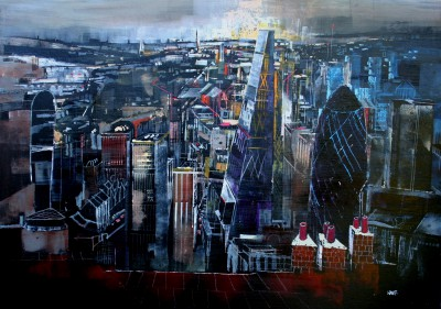 Nagib KARSAN, contemporary artist&nbsp;-&nbsp;<span style='color:red;font-size: 200%'>&#8226;</span> Cityscape, London