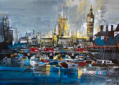 Modern Artist Nagib KARSAN - Big Ben and Houses of Parliament