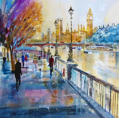 Nagib KARSAN - The Palace of Westminster from Southbank