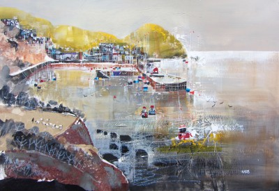 Modern Artist Nagib KARSAN - View across from Harbour, Ilfracombe