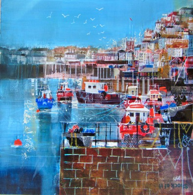 Nagib KARSAN - View across the Harbour, Mevagissey