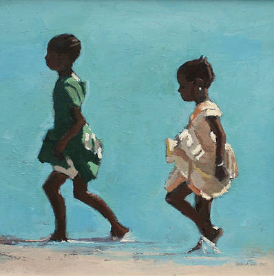 Patrick GIBBS - Girls in Green and Yellow, Zanzibar