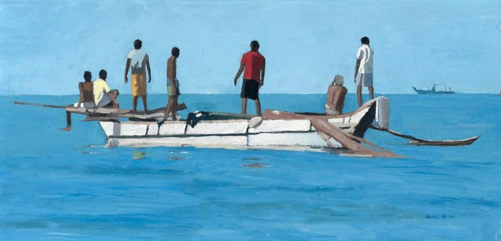 Patrick GIBBS - Fishermen Looking out to Sea, Sri Lanka
