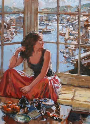 Modern Artist Paul HEDLEY - Sophie at Falcon House