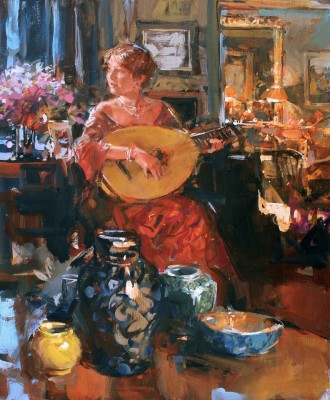 Corinna painting by artist Paul HEDLEY