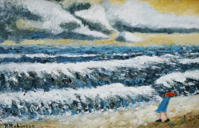 Modern Artist Paul ROBINSON - A Very Chilly Windy Day
