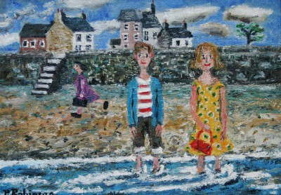 Modern Artist Paul ROBINSON - A Romantic First Date Beside the Sea